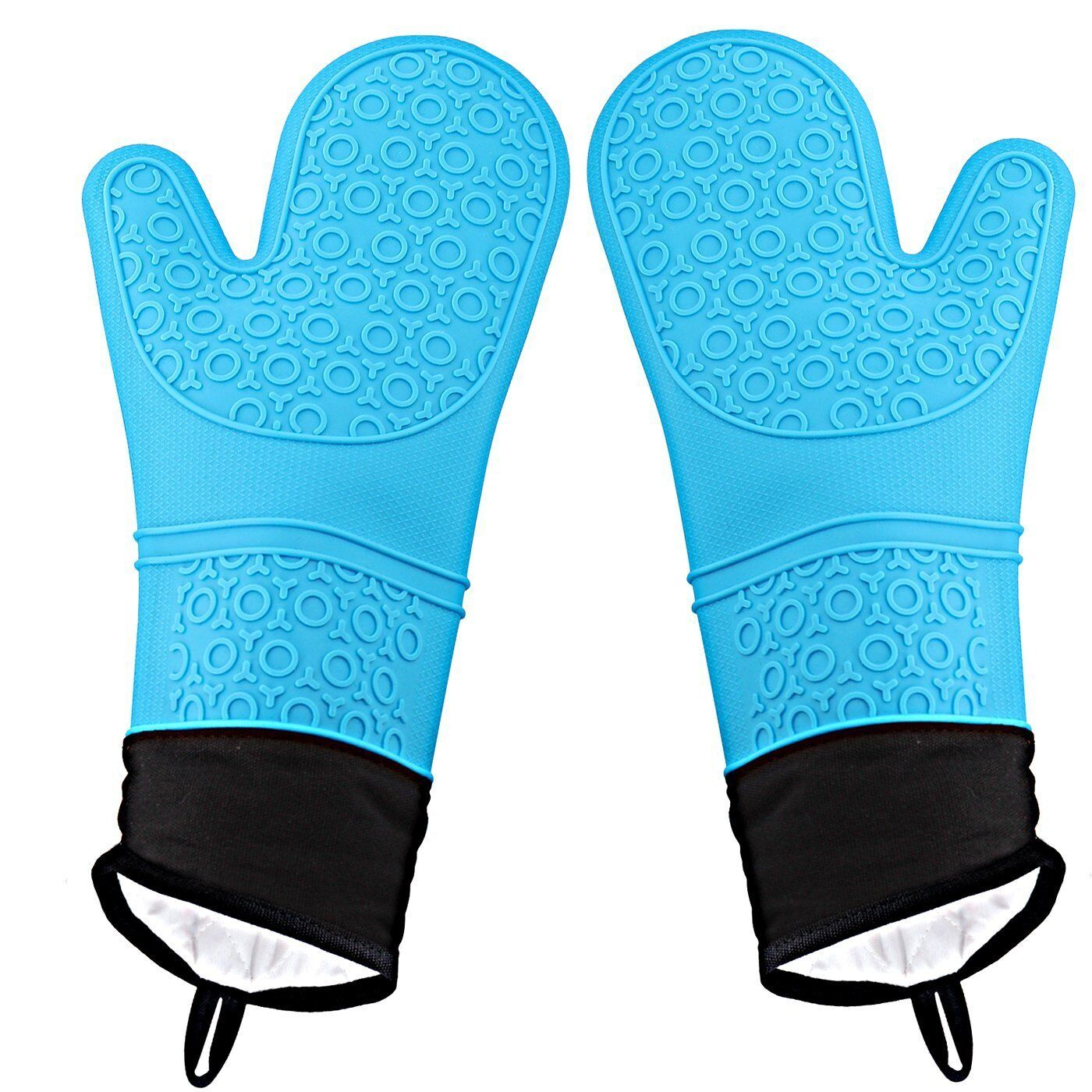 Pair Of Gloves Heat Resistant Silicone Gloves Kitchen Bbq Oven Cooking Mitts B