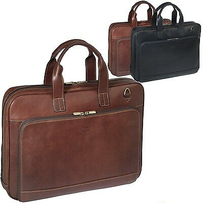 Ladies Mens Briefcase Busi Office Documents Tony Perotti Shoulder Strap Bag ()