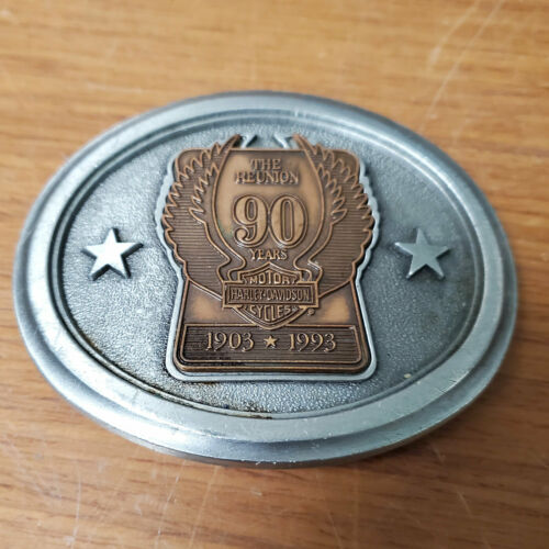 HARLEY DAVIDSON 90TH Anniversary REUNION BELT BUCKLE