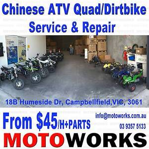 $60 Service & Repair for ALL CHINESE Trail Dirt ATV Quad Bike Campbellfield Hume Area Preview