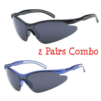 - 2 Pairs Kids X-Loop Sports Sunglasses Boys Girls 8 Color Available Pick Your Own