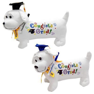 Congrats Grad Happy Graduation Dog Signing Pen Autograph Stuffed Animal Gift - Graduation Autograph Dog