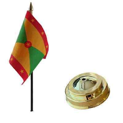 Granada 15.2cm x 10.2cm Escritorio de Mesa Bandera con Oro Plástico Plano Base segunda mano  Embacar hacia Spain