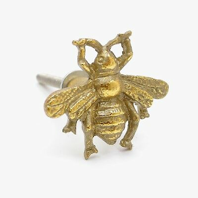 (Antique Brass Cute Golden Gold Brass Bumble Bee Metal Knob, Pull, Handle, for Cu)