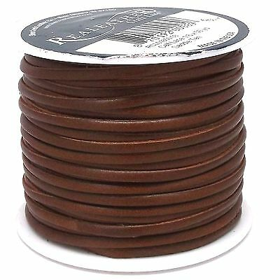 """Superior Leather Lace Saddle Tan 1/8"""" x 50 Yds by Real Leather RCL01850-03"""