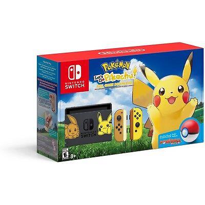 Nintendo Switch Pokemon -  Let's Go Pikachu Bundle Set