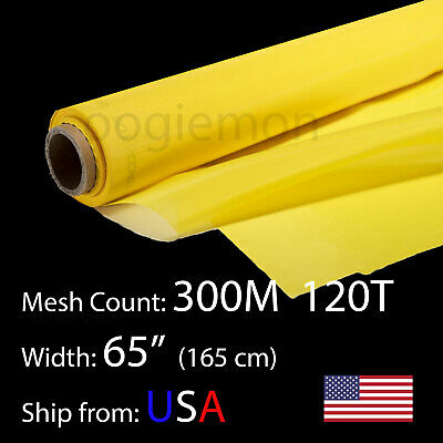 3 Feet 65 Wide Silk Screen Printing Mesh Fabric 300 M 120t Polyester 36 L