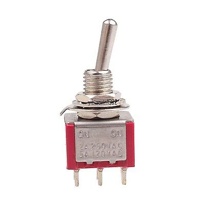 New 5a120vac Dpdt Onon 6 Pin Panel Mounted Mts-202 Toggle Switch 2 Piece