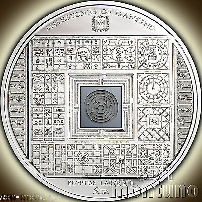 2016 Cook Islands EGYPTIAN LABYRINTH Milestones of Mankind 50mm Silver Coin $10