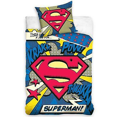 Superman 100% Baumwolle Bettwäsche Set NEU
