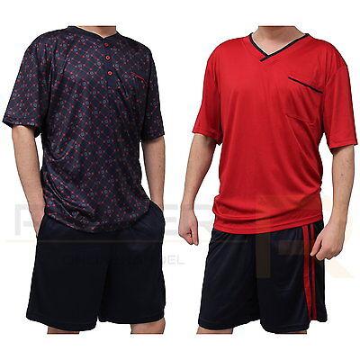 Herren Shorty Schlafanzug Pyjama Kurz in Gr  S, M, L, XL, XXL, XXXL  NEU