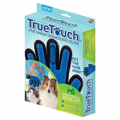 TrueTouch FiveFinger Deshedding Glove for Pet Grooming Cats & Dogs As seen on TV
