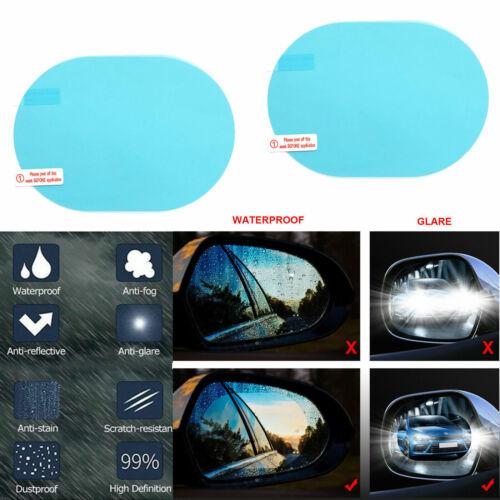 2X Car Rearview Mirror Sticker Rainproof Protective Film Antifog Rain Shield US