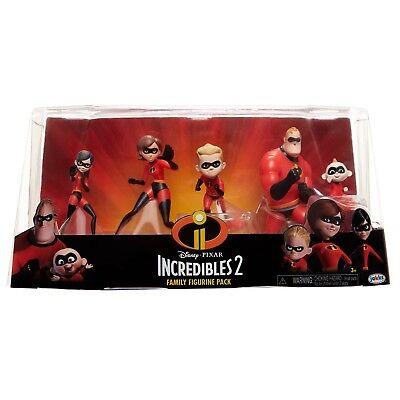 Disney Pixar Incredibles 2 Family Figurine Pack  New