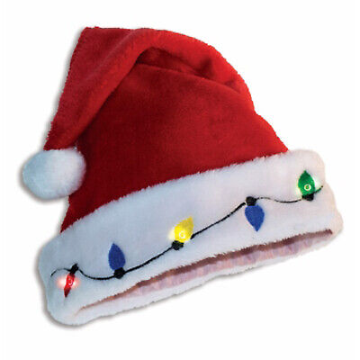 Light Up Hat (Christmas Light Up Unisex Adult Santa Claus Christmas Holiday)