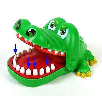 Crocodile Mouth Dentist Bite Finger Game Fun Playing Toy Kid Children Gift Green