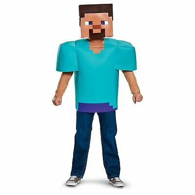 Minecraft Kids Costume (Minecraft Steve Costume S 4-6 Boy Child Kids)