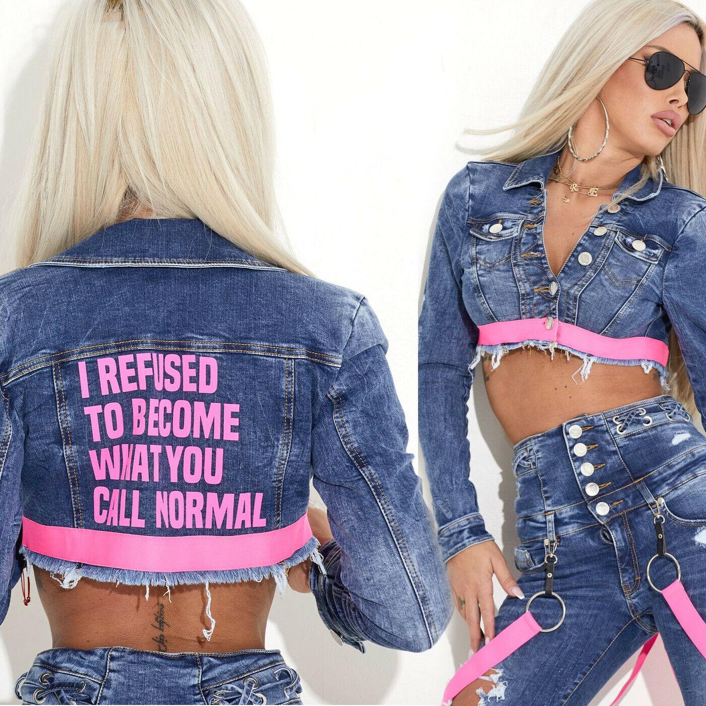 By Alina MEXTON Damenjacke Jeans Jeansjacke Übergangsjacke