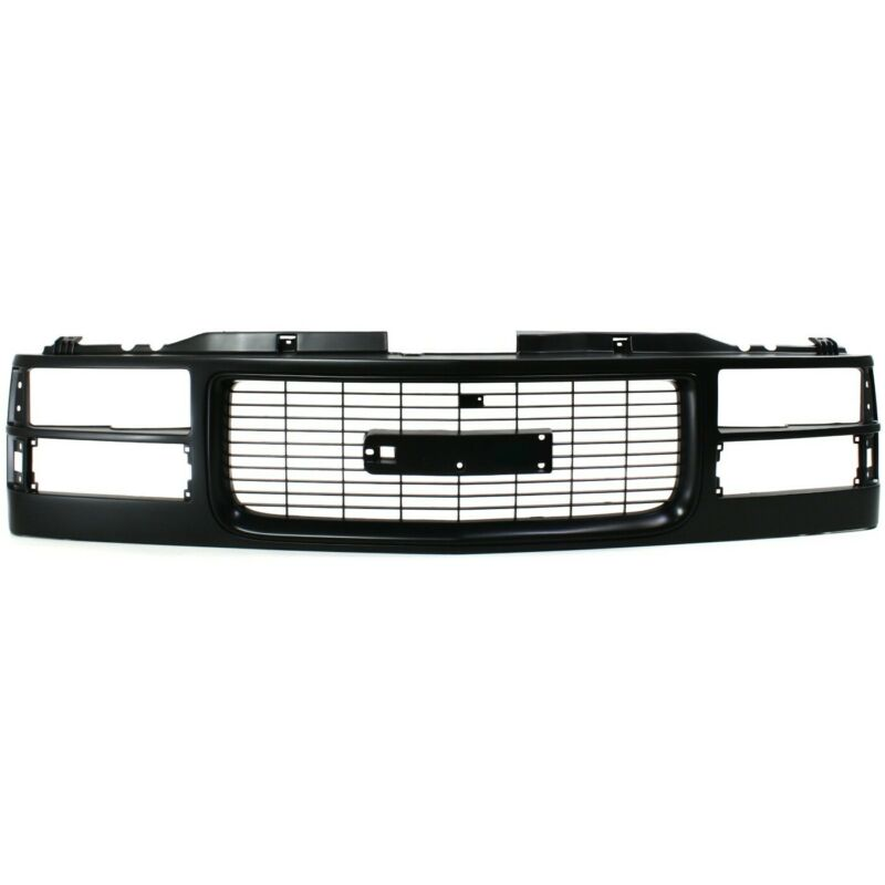 Grille Assembly For 94-98 GMC C1500 94-2000 K2500 w/ headlight holes