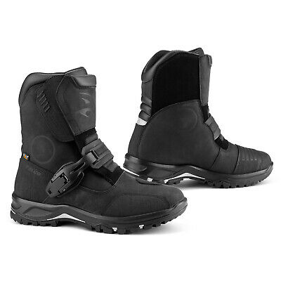 Falco Marshall Boots Black 10 44 Men Adult Adventure Touring Motorcycle