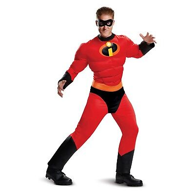 Men's The Incredibles Mr. Incredible Classic Muscle Halloween Costume, XXL 50/52 - Mr Incredible Costume Xxl