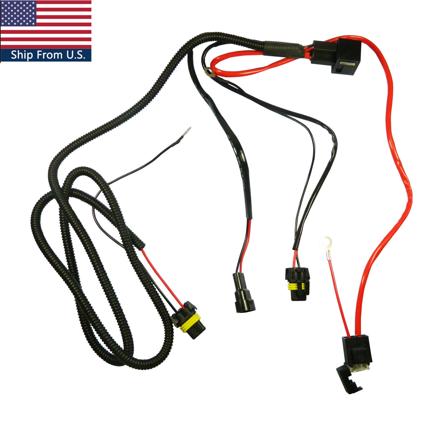 details about battery relay wiring harness adapter for h3 h7 h11 9005 9006 hid conversion kit High Low HID Wiring-Diagram