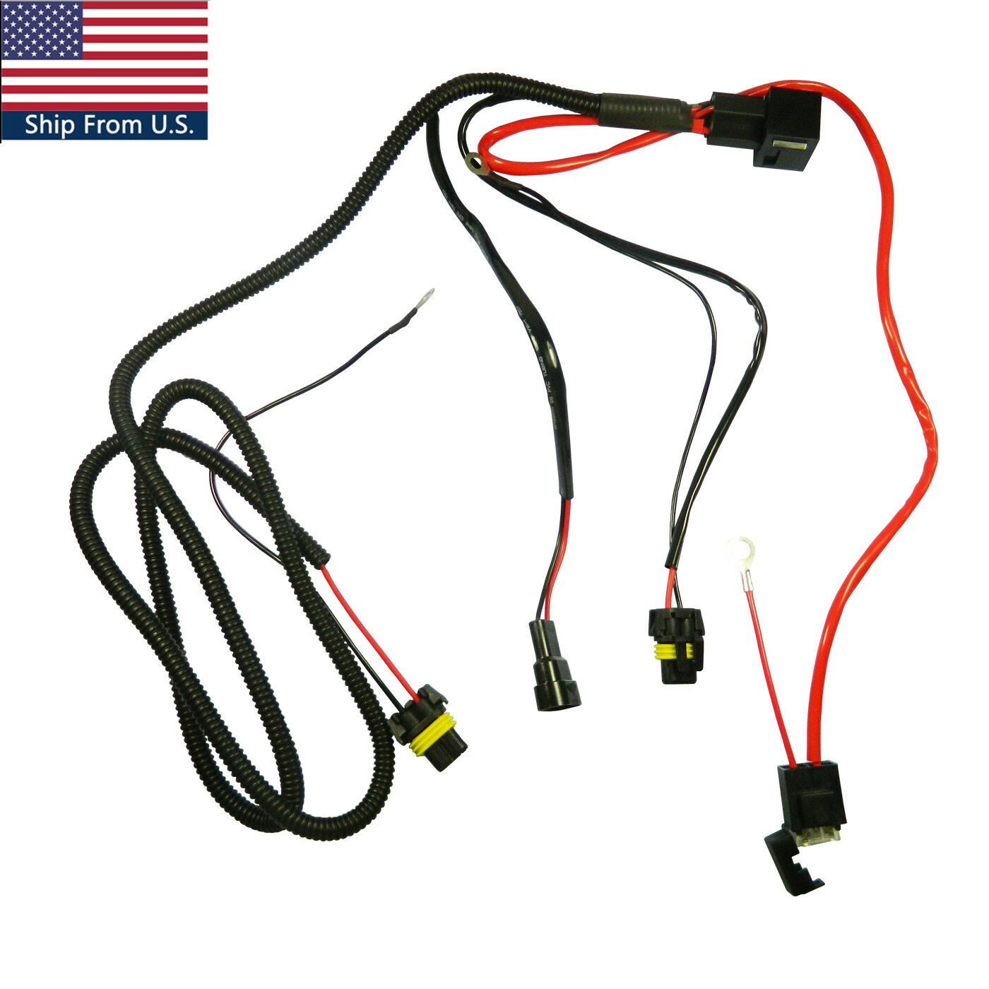 Details about Battery Relay Wiring Harness Adapter For H3 H7 H11 9005 on