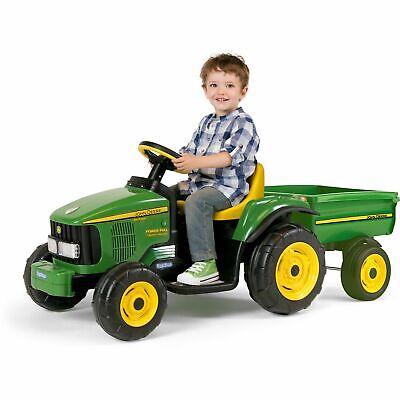 Peg Perego John Deere 6V Power Pull Tractor - Green - Christmas Holiday Gift