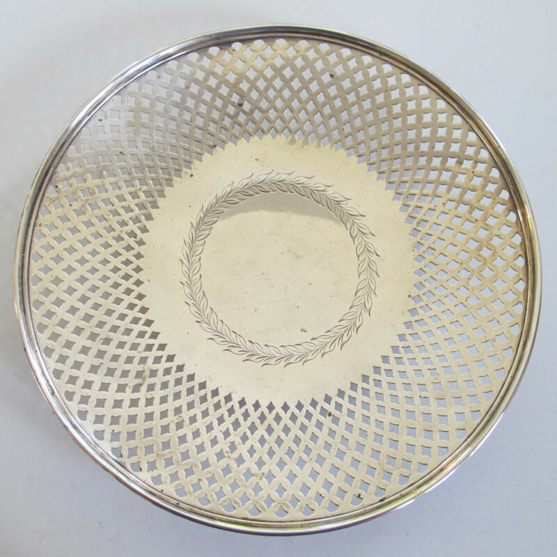 MAUSER Sterling Silver RETICULATED Pierced PLATTER - No Monogram