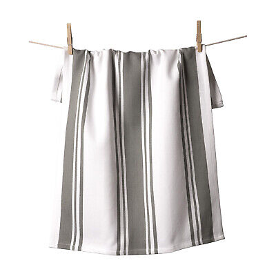 KAF Home Centerband Oversized Kitchen Towel, 100% Cotton, Pewter