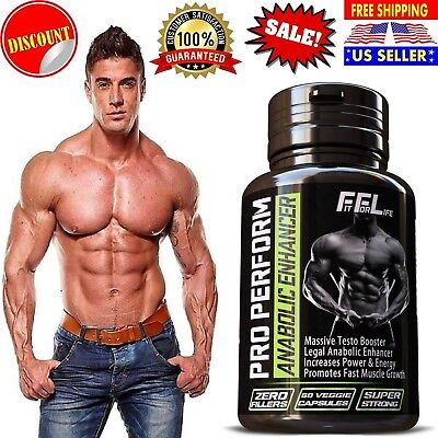 #1 BEST Testosterone Booster Pills TESTO FUEL MUSCLE TRIBULUS Supplement 60