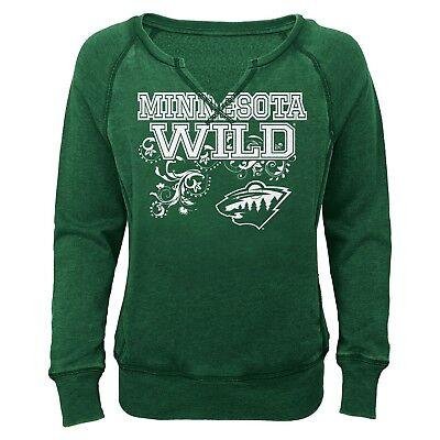 Minnesota Wild Youth Fleece (NHL Minnesota Wild Green Girls' Open Neck Fleece Sweatshirt - Youth Girls)