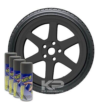 Performix Plasti Dip Gun Metal Grey Aerosol Spray Cans 11oz 4 Pack Wheel Rim Kit
