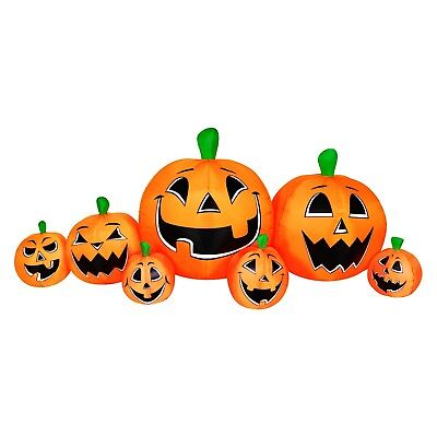 Halloween 8.5 Ft LED Pumpkin Patch Inflatable Ourdoor Lawn Decoration Hyde & Eek