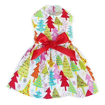 Christmas Trees Dog Dress Little Dog Clothes Small Dog Size M S XS XXS XXXS ()