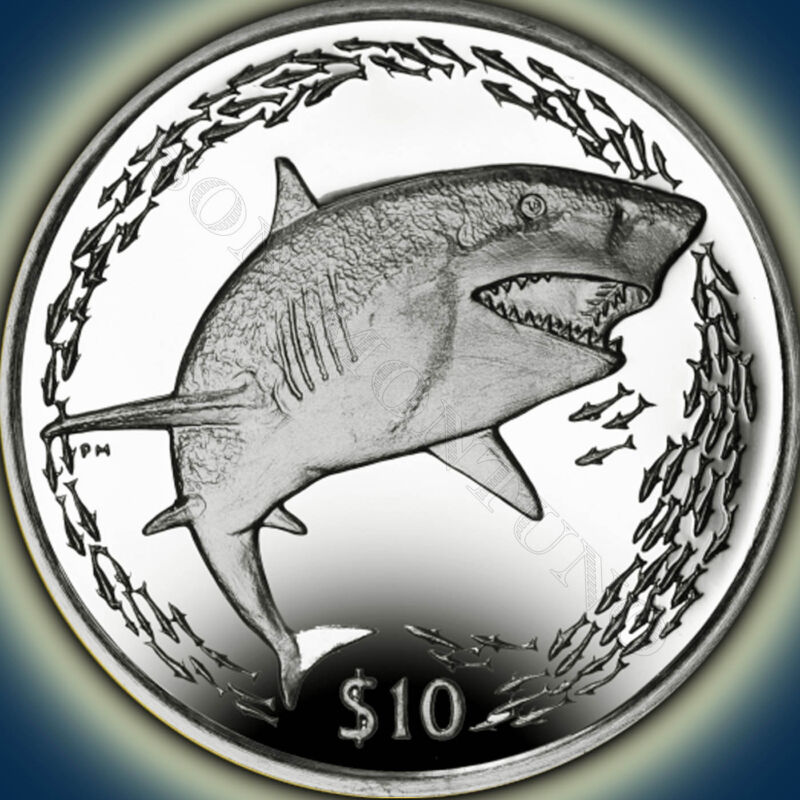 2016 Lemon Shark - Sterling Silver Coin in BOX & COA British Virgin Islands $10
