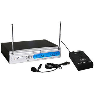 Peavey-PV-1-U1-BL-UHF-Lavalier-Wireless-Mic-Sys-906-000-MHz-248-8272