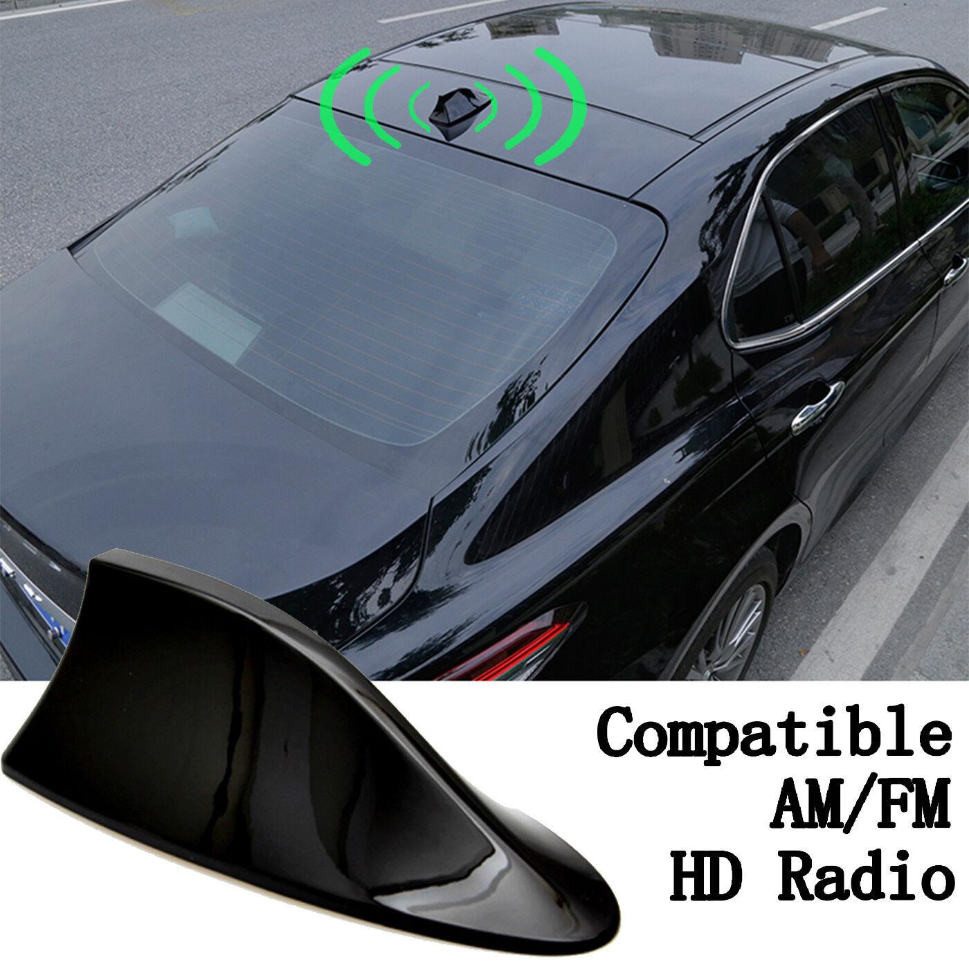 Car Shark Fins Radio AM FM Antennas Aerial with Adhesive Tabe Base Possbay Car Antenna