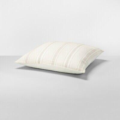 Hearth & Hand Magnolia Linen Blend Yarn Dye King Pillow Sham - Sour Cream/Pebble ()
