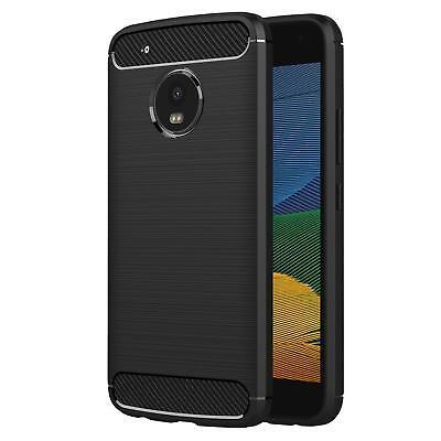 Funda Para Motorola Moto G5 Handycarbon Protector Silicona Móvil Cubierta