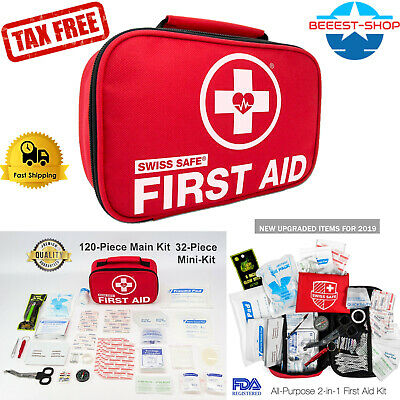 Best First Aid Emergency kit Survival Home Travel Outdoor Car Medical Bag (Best Survival Medical Kit)