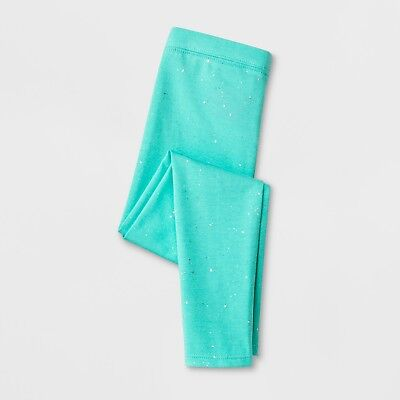 2 Pack of Girls Sparkly Leggings by Cat & Jack - Mint Green - Size XXL (18)