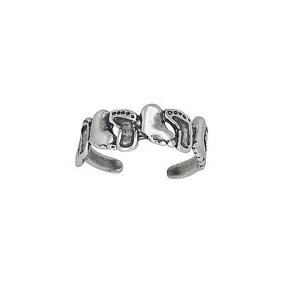 Sterling Silver .925 Feet Toe Ring adjustable size | Made In USA