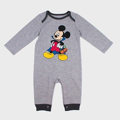 Baby/Infant Boys Mickey Mouse & Friends 1-Pc Long Sleeve Romper Halloween Outfit - Mickey Mouse Halloween Outfit