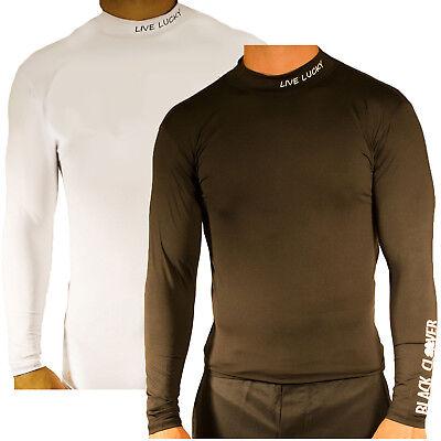 Black Clover Base Layer Compression Performance Shirt Mock - Pick Color & Size