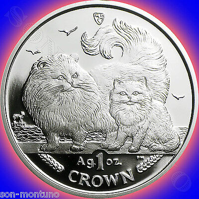 1988-2016 COMPLETE SET of 29 Isle of Man SILVER Cat Coins 1oz .999 Proof Crown