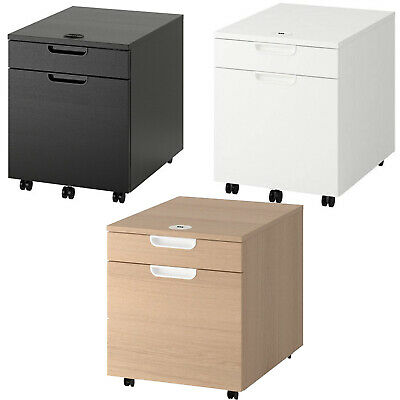 Galant Drawer Unit/Drop File Storage Black Veneer, White, Oak Veneer  File Oak Veneer