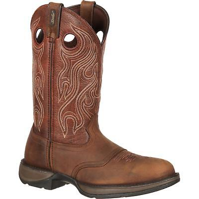 "Durango DB5474 12"" Rebel Saddle Slip and Oil Resistant Pull On Western Boots"