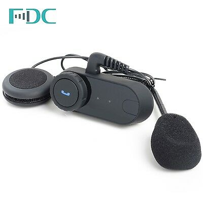 Brand T-COM 1000M FM BT Bluetooth Interphone Motorcycle Helmet Intercom Headset