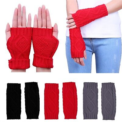 Women's Fingerless Gloves Crochet Cable Knit Wrist, Hand, and Arm (Womens Arm Warmers)